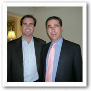 New York personal injury lawyer Michael Kaplen at a private meeting with ABC News Anchor, Bob Woodruff