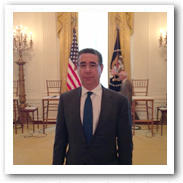 Michael Kaplen at the White House