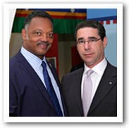 Michael Kaplen, Bd. of Directors, Trial Lawyers for Public Justice, at Annual Meeting with Rev. Jessie Jackson