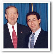 Michael Kaplen with Governor George Pataki at bill signing for Traumatic Brain Injury Law