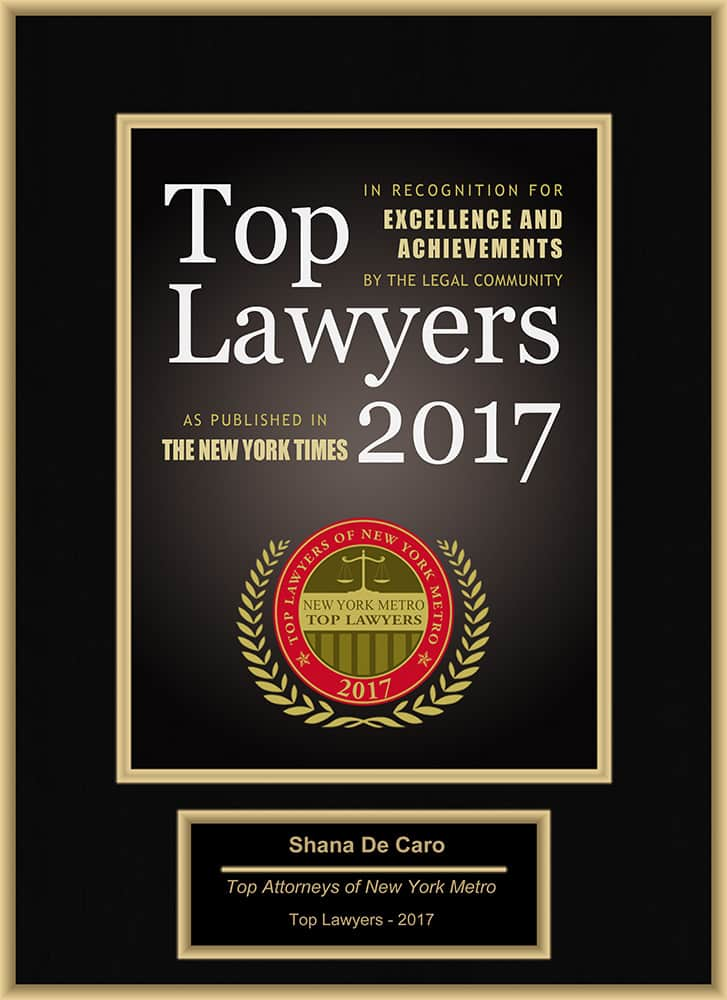 Top Lawyers 2017 Shana De Caro