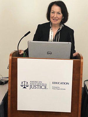 Shana De Caro, presenting at the American Association for Justice, Annual Meeting, San Diego, California