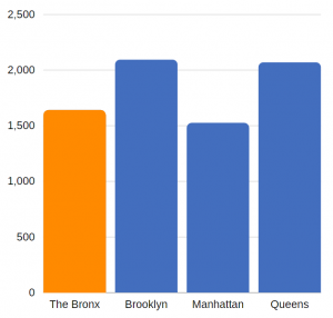 traumatic brain injury related hospitalizations in the Bronx