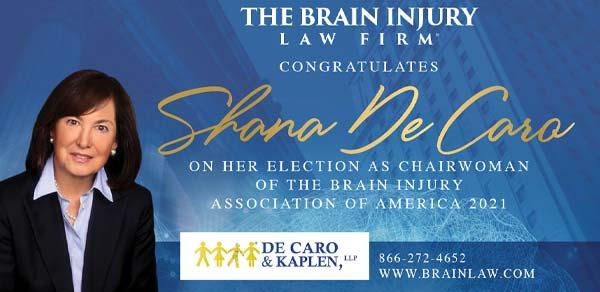 Brain Injury Attorney Shana De Caro Elected Chairwoman Brain Injury Association of America